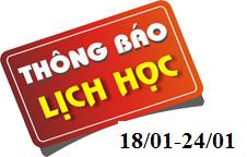 Lịch học Trường Trung cấp Kinh tế – Kỹ thuật và Du lịch Ninh Bình (từ 18/01/2021 đến 24/01/2021)