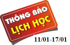Lịch học Trường Trung cấp Kinh tế – Kỹ thuật và Du lịch Ninh Bình (từ 11/01/2021 đến 17/01/2021)